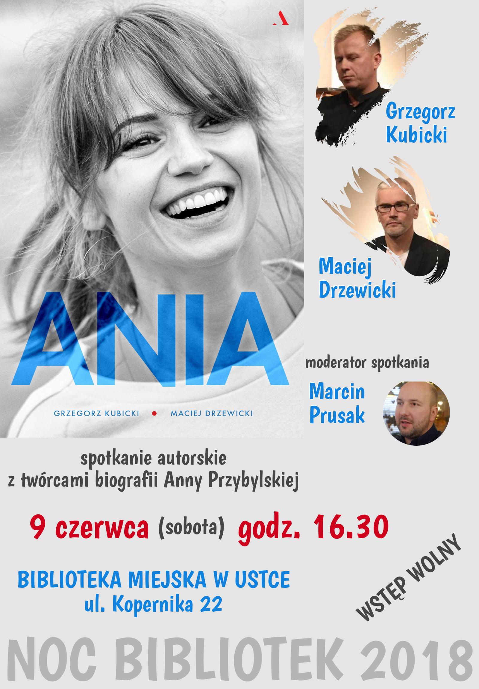 Spotkanie autorskie - plakat